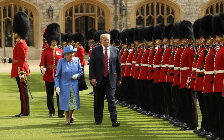 "The Trumps had tea with Queen Elizabeth II at Windsor Castle during a visit to the United Kingdom last year. Trump said the queen was ""fantastic"" and that the first couple and the monarch really ""got along."""
