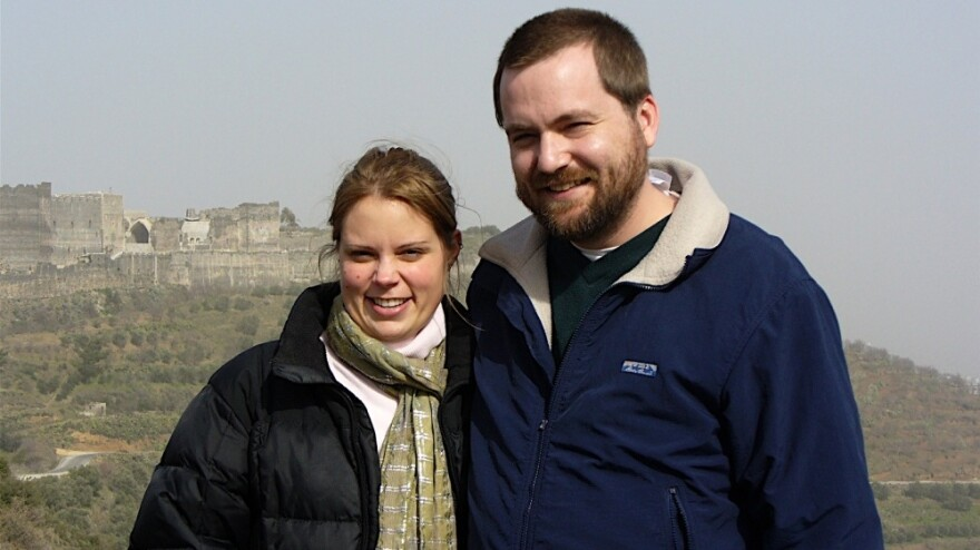Tom MacMaster and his wife Britta Froelicher.