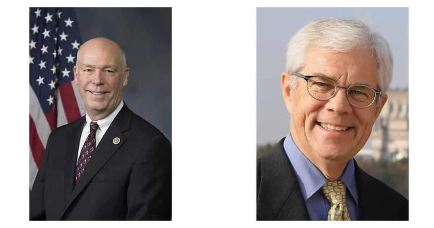 Portraits show Republican U.S. Congressman Greg Gianforte and Democratic Lt. Gov. Mike Cooney, who are vying to become Montana's next governor.