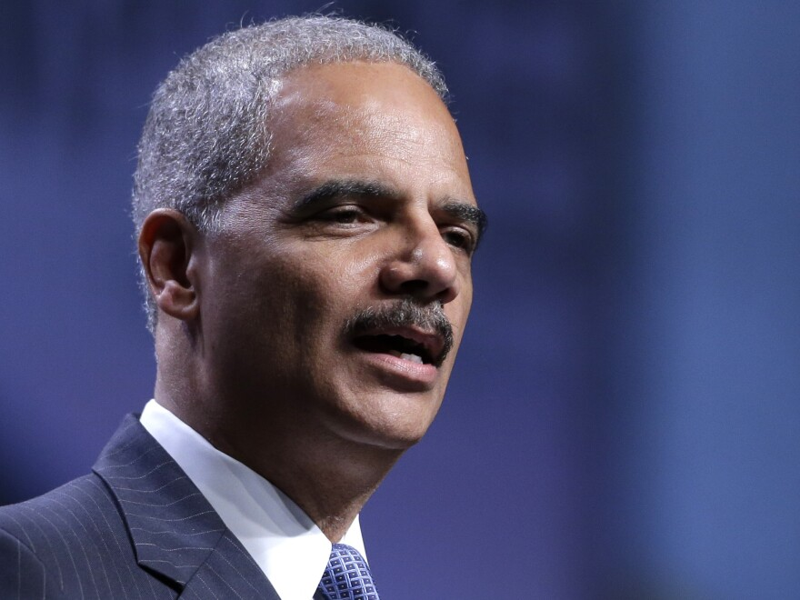 Attorney General Eric Holder speaks at the National Urban League annual conference on Thursday in Philadelphia.