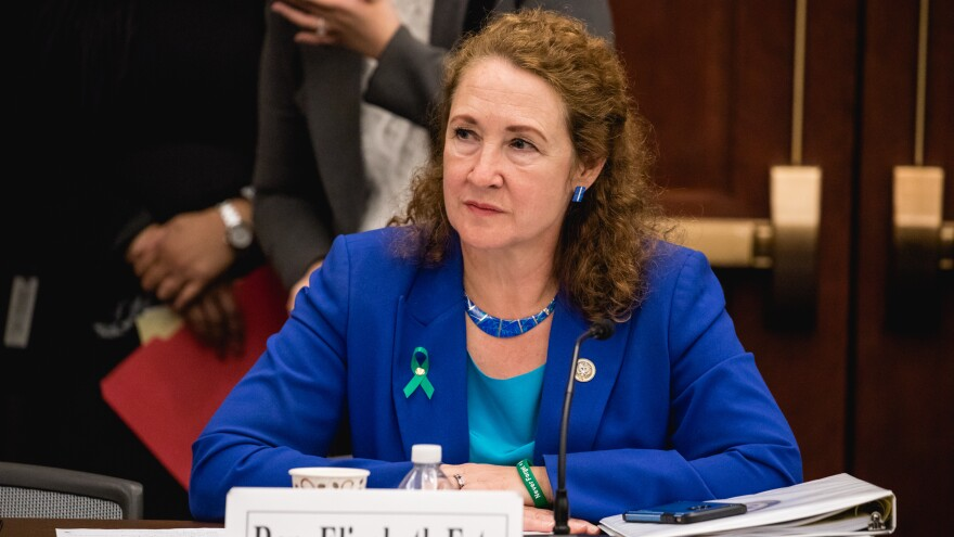 Rep. Elizabeth Esty, D-Conn., photographed earlier this month in Washington, D.C., apologized Thursday for failing to protect a former staffer who accused another ex-employee of abuse within Esty's Capitol Hill office.