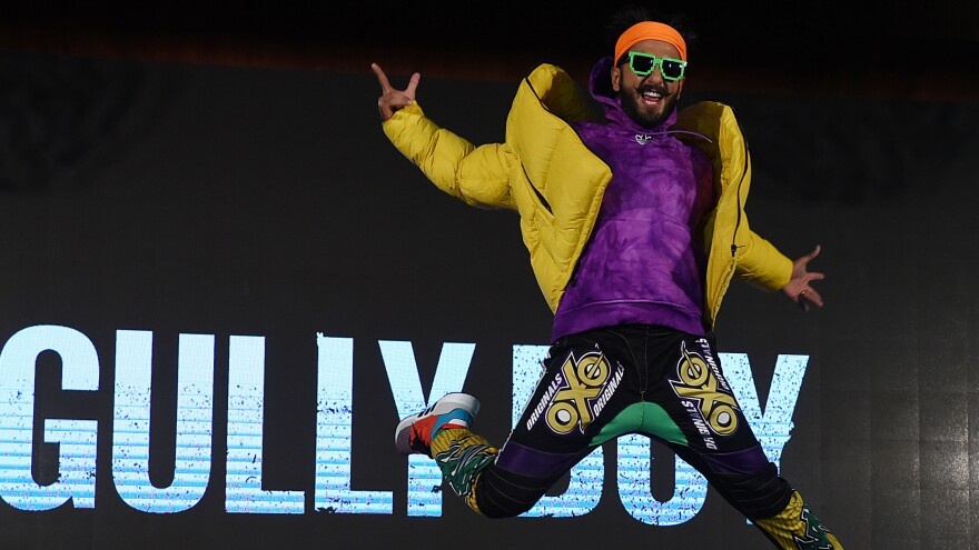 Ranveer Singh, one of the stars of the recent film <em>Gully Boy</em>, at a publicity event in Mumbai on Jan. 9, 2019. The film has put a spotlight on Indian hip-hop, to the chagrin of some working in it.