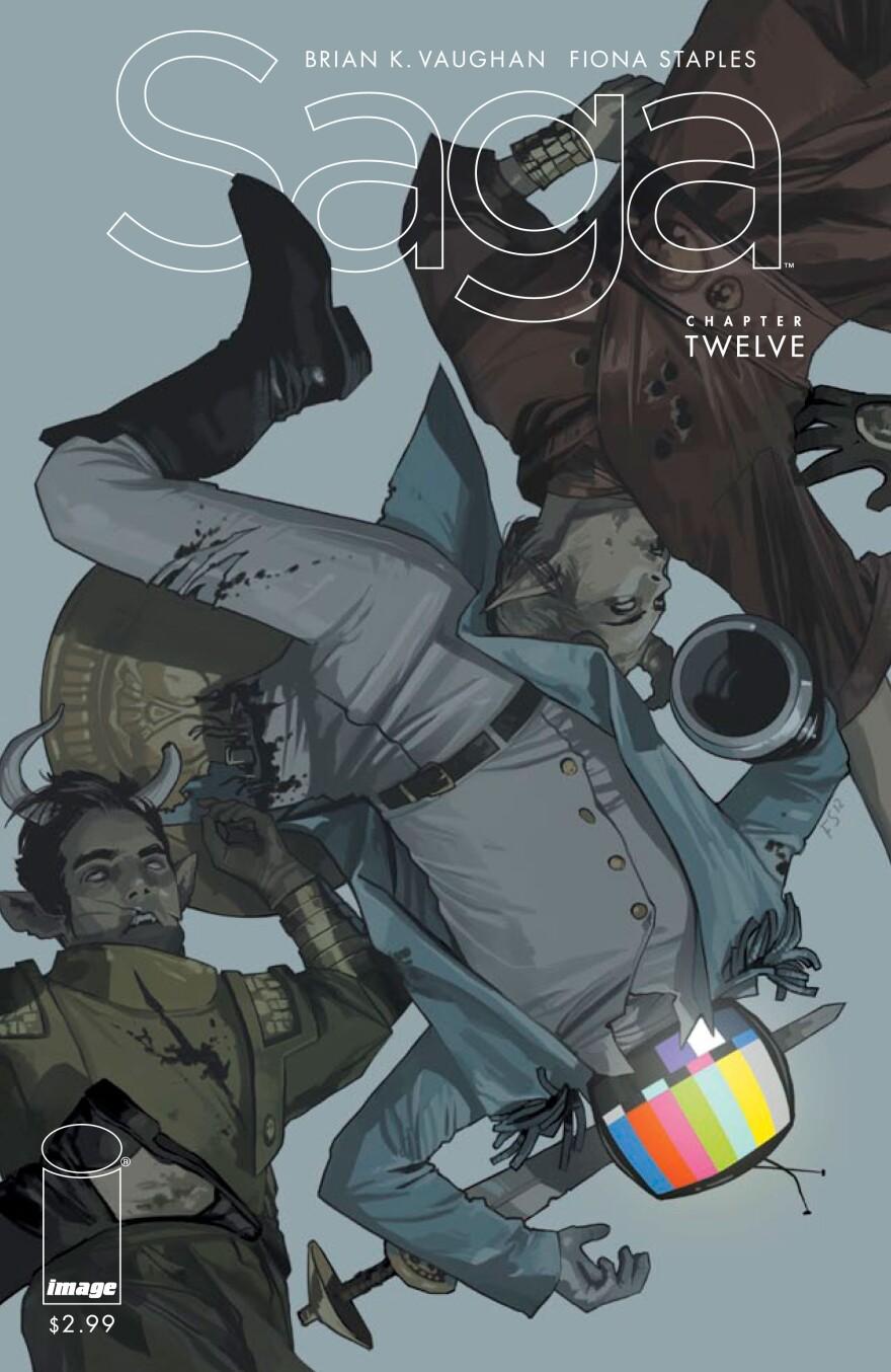 The cover of <em>Saga</em>, issue #12.