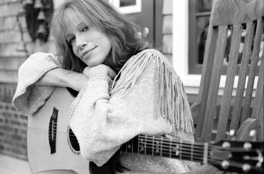 "Singer-songwriter Carly Simon is known for the songs ""You're So Vain"" and ""Let the River Run""."