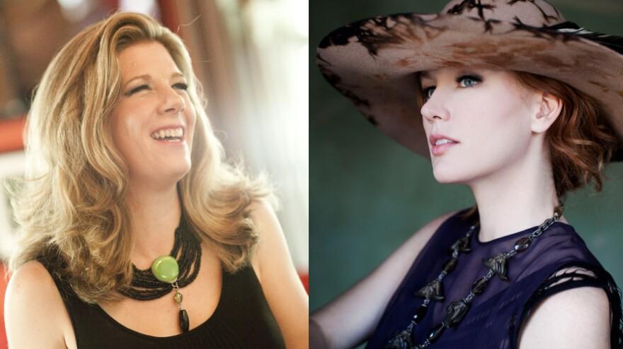 Dar Williams and Allison Moorer recently performed on <em>World Cafe</em>.