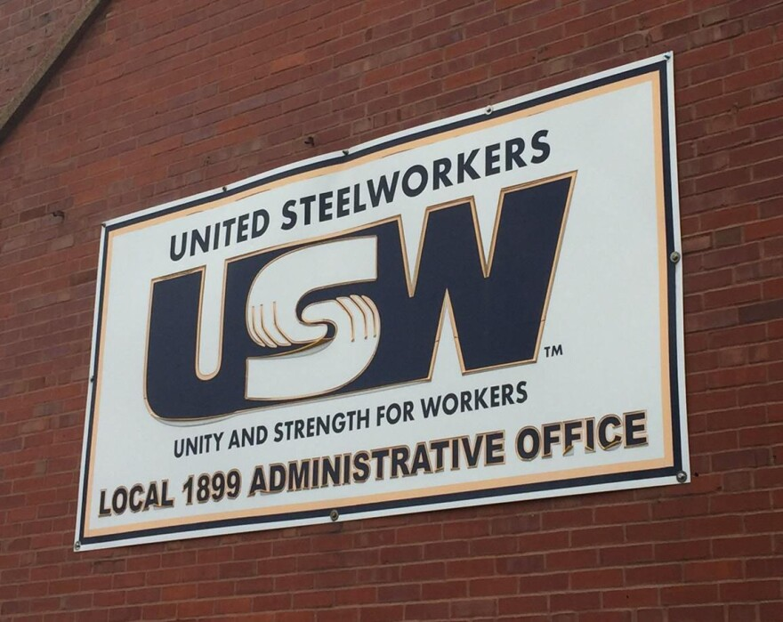 A view of the outside of the United Steelworkers office in Granite City.