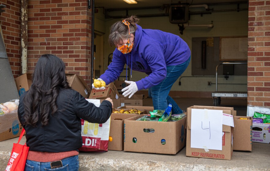 food distribution at KSU's campus kitchen