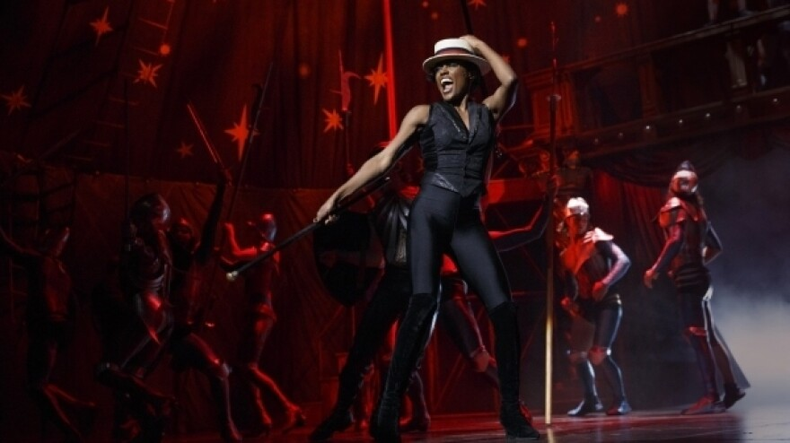 The role of the Leading Player (Patina Miller) becomes a kind of circus ringmaster in the new Broadway revival of Stephen Schwartz's 1972 musical <em>Pippin.</em>
