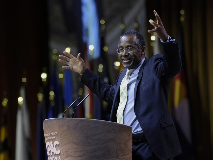 With his outspoken conservative views, Dr. Ben Carson is a hit among Republicans. He spoke at the Conservative Political Action Conference last week.