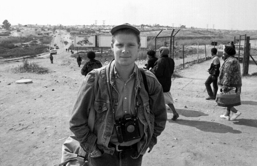 David in South Africa as a young photojournalist.