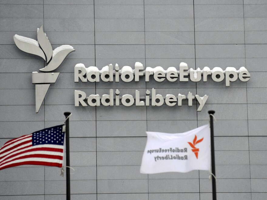 The acting head of the U.S. Agency for Global Media has fired the presidents and boards of Radio Free Europe/Radio Liberty, Radio Free Asia and the Middle East Broadcasting Networks. Above, the headquarters of Radio Free Europe/Radio Liberty is seen in Prague in January 2010.