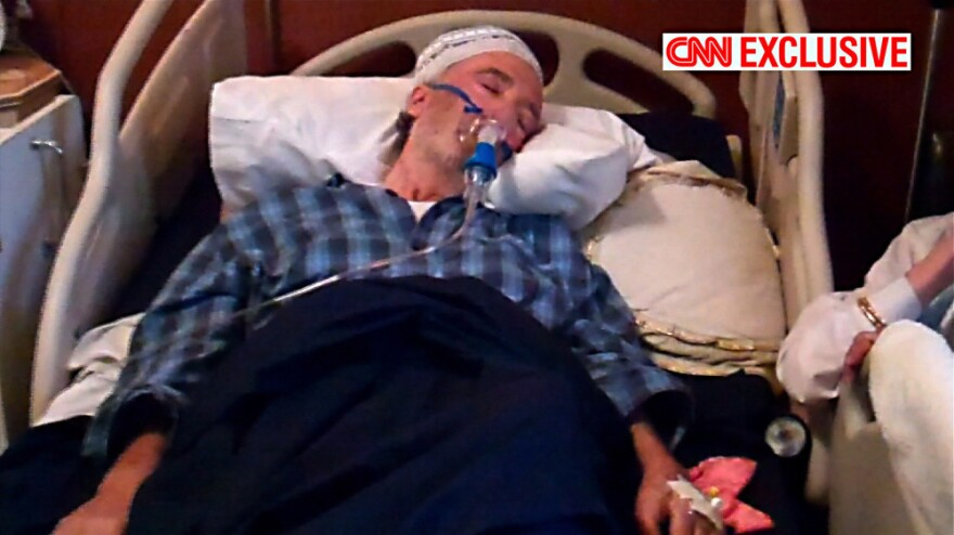 CNN Exclusive image from video shows a comatose Lockerbie bomber Abdel Basset al-Megrahi  at his house in Tripoli, Libya. CNN found al-Megrahi under the care of his family in his palatial Tripoli villa.
