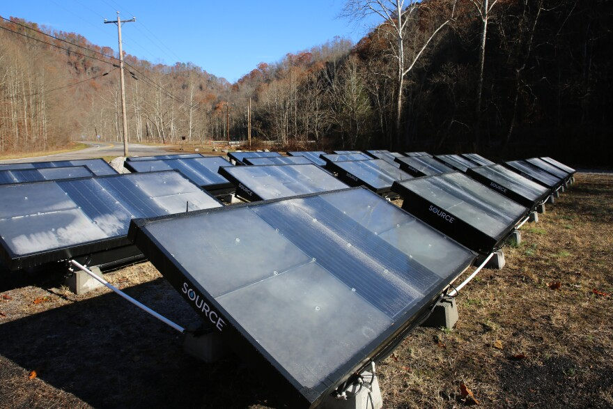 The Five Loaves and Two Fishes Foodbank has 24 hydro-panels for water-gathering in Kimball, West Virginia.