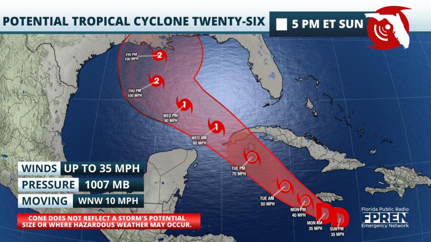 Potential Tropical Cyclone Twenty-Six Forecast Track and Intensity