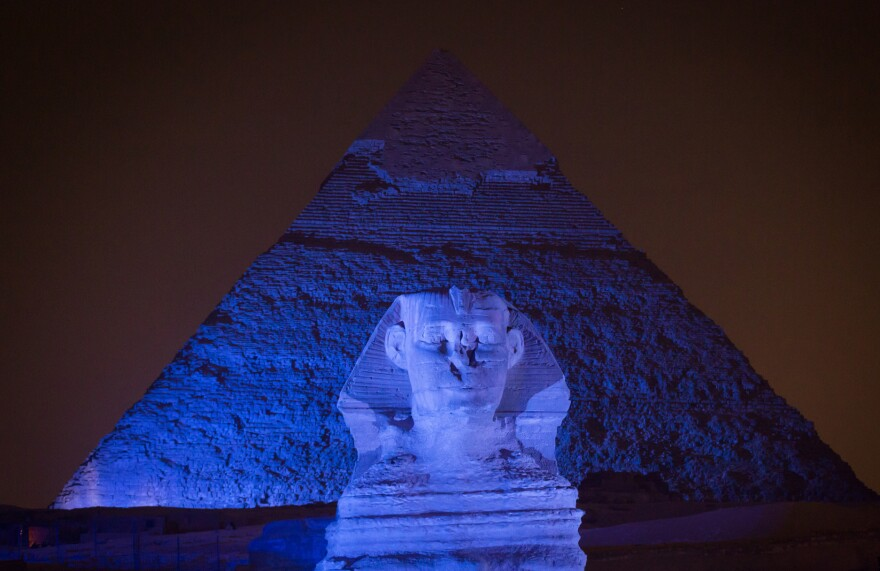One way to get Egyptians talking about autism? Turn their biggest monument blue — the official color of Autism Awareness Month.