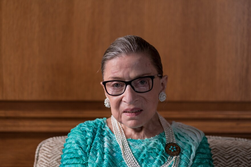 Supreme Court Justice Ruth Bader Ginsburg in the justice's chambers in Washington, D.C., in 2016.