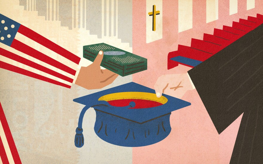 Private and religious colleges take money from the fed.