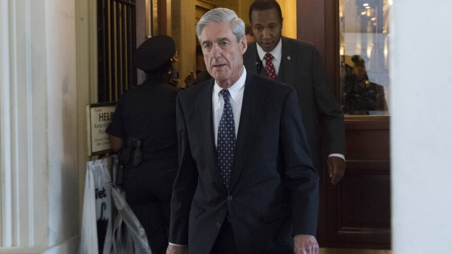 Special counsel Robert Mueller leaves following a meeting with members of the Senate Judiciary Committee at the Capitol in Washington, D.C., on June 21, 2017.