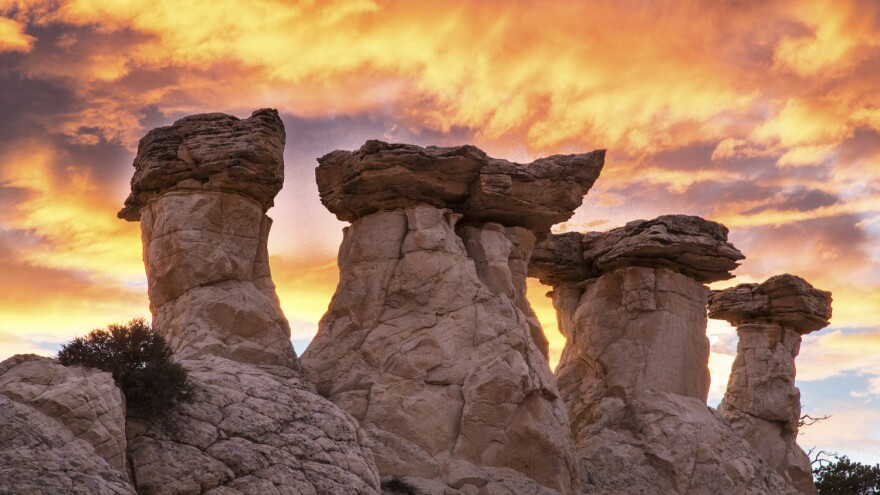 The Grand Staircase-Escalante, with its famous hoodoos, or columns, has long been at the center of a local fight over whether its federal designation hurts or helps the surrounding area.