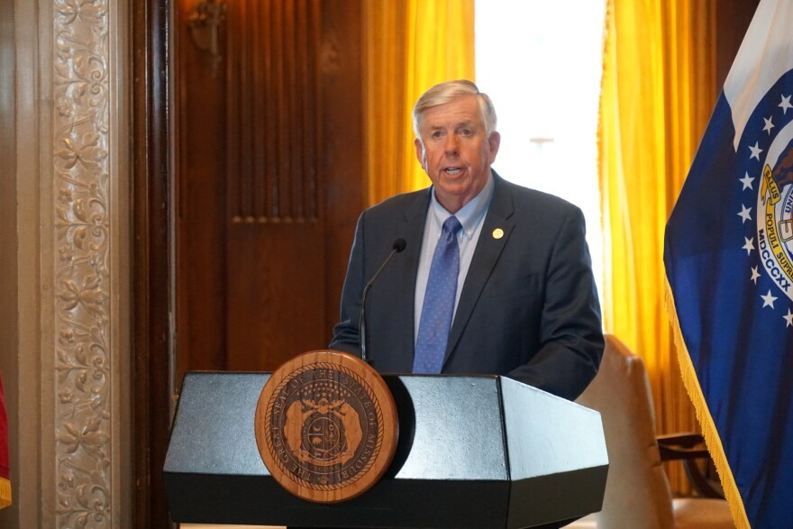 Missouri Gov. Mike Parson on Tuesday announced $50 million in federal coronavirus relief funds to be available to businesses across the state.