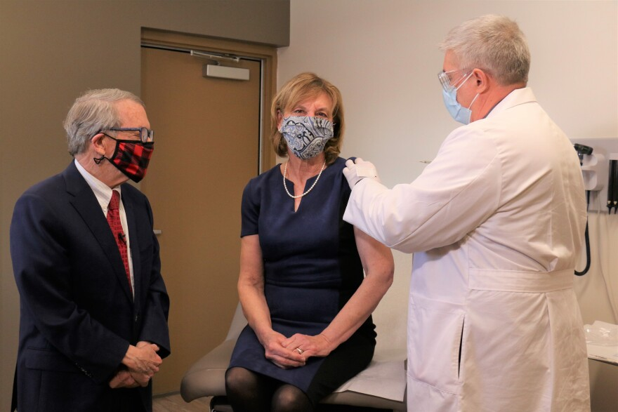 Mike and Fran DeWine receive COVID-19 vaccines
