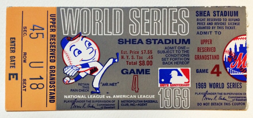 A ticket for that fateful game.