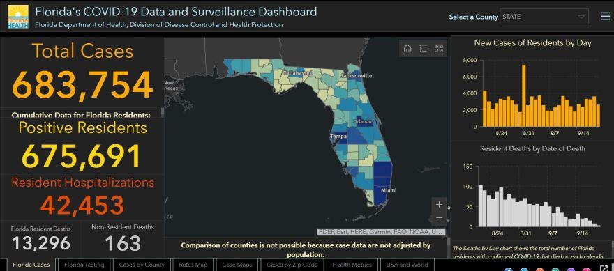 Florida COVID-19 Map