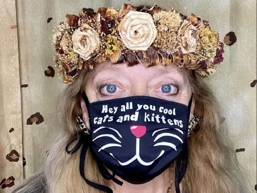 an example of the masks sold by Carole Baskin, of Big Cat Rescue