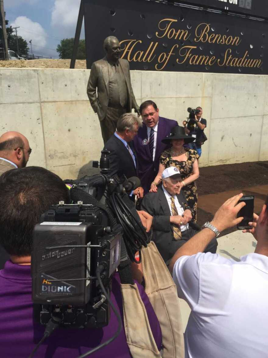 Tom Benson at Dedication