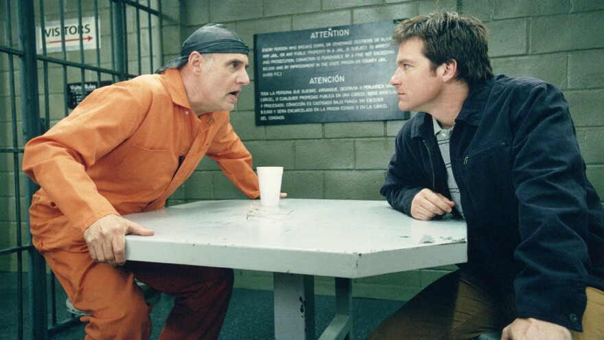 Jeffrey Tambor, left, and Jason Bateman appear in a scene from the comedy <em>Arrested Development</em>, which returns with new episodes on Netflix on May 26.