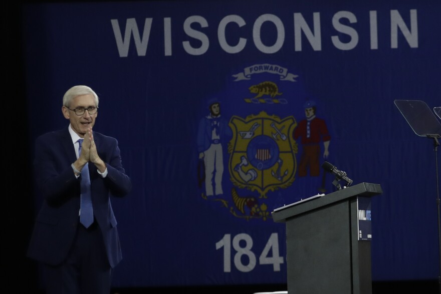 Democratic Gov.-elect Tony Evers as he campaigned in October. This week Republican lawmakers vote on limiting his powers before he comes into office in January.