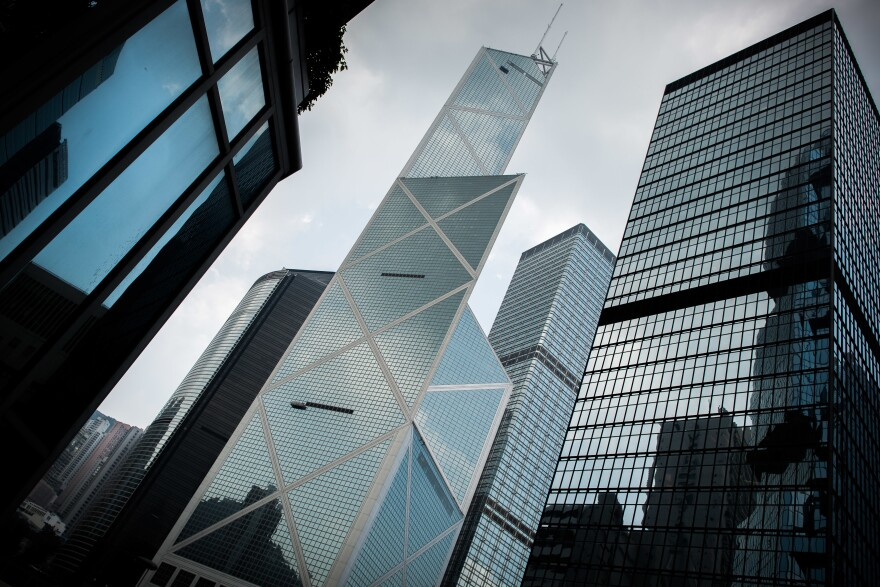 "Completed in 1990, the <a href=""http://www.pcf-p.com/a/p/8220/s.html"" target=""_blank"">Bank of China Tower</a> is among the tallest skyscrapers in Hong Kong."