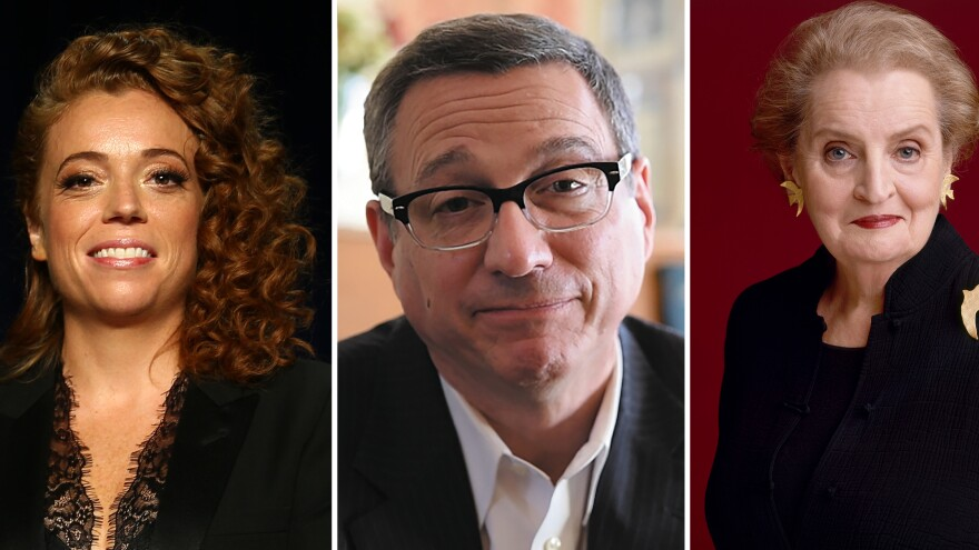 Comic Michelle Wolf; Rev. Rob Schenck; former Secretary of State Madeleine Albright