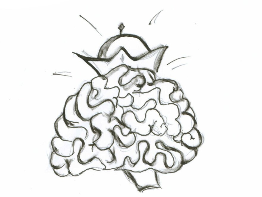 Brain with crown