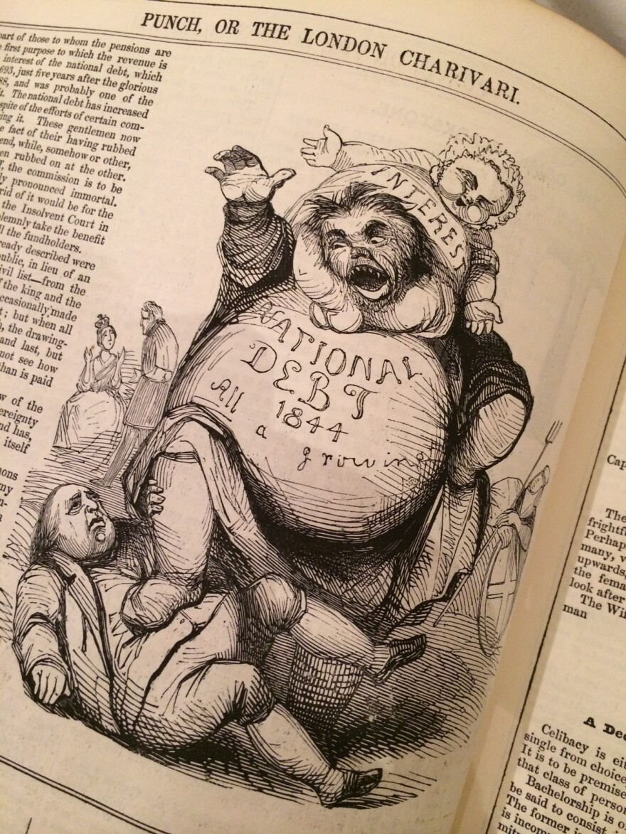 <em>Punch</em> magazine began publishing in 1841 and survived until 2002. It was a British institution and has been credited with introducing humorous cartoons.