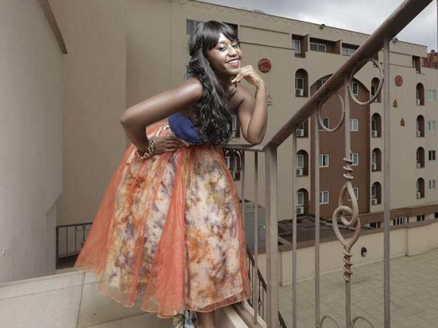 Actress Nana Mensah plays feisty Sade on <em>An African City.</em>