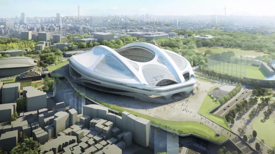 Tokyo's proposed National Stadium, a key part of its 2020 Olympics plan, is being reopened to design proposals after Japanese officials said new cost estimates had risen sharply.