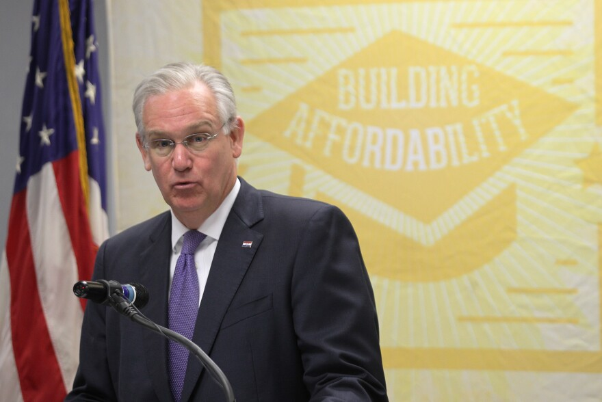 Gov. Jay Nixon says legislators blew their chance to have a say on bonding for a stadium in St. Louis.