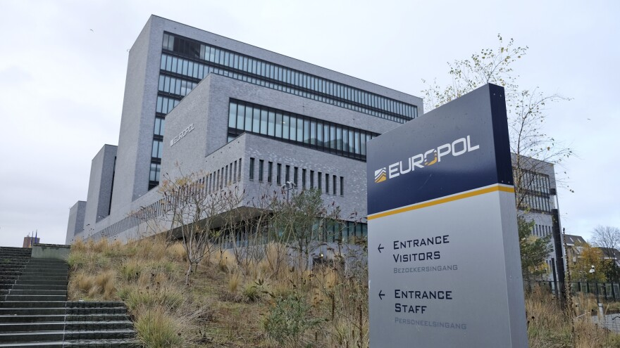 The Europol headquarters in The Hague, Netherlands, as seen in 2016. Europol announced Monday that over 26,000 items related to terrorist propaganda were removed from the internet.