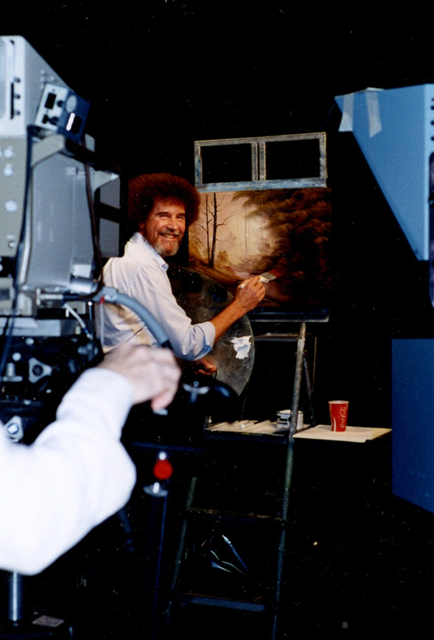 Ross filmed more than 400 episodes of <em>The Joy of Painting</em>. He actually painted three different versions of each work for every show — but viewers only saw one on-screen.