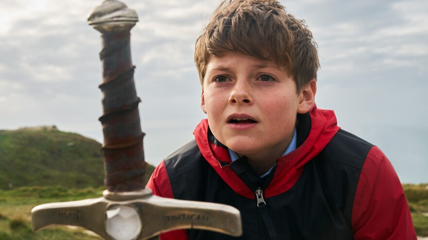 Louis Ashbourne Serkis plays a spirited 12-year-old sucked into a fantastical quest in <em>The Kid Who Would Be King. </em>