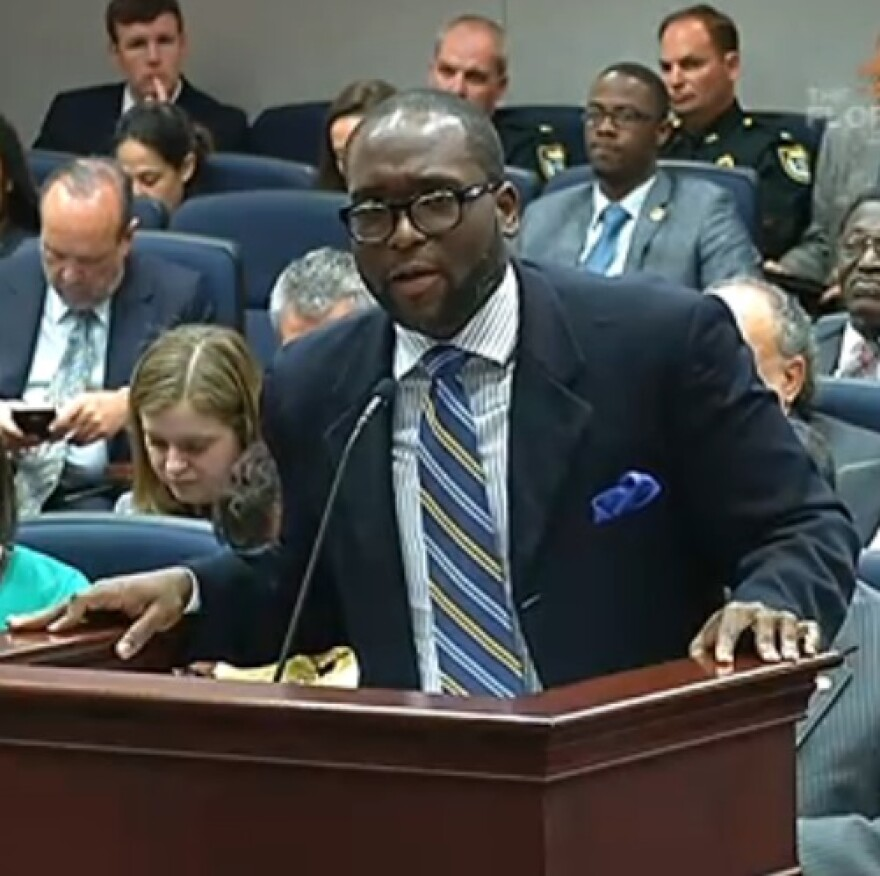 Rep. Shevrin Jones speaking before the House Judiciary Committee Tuesday.