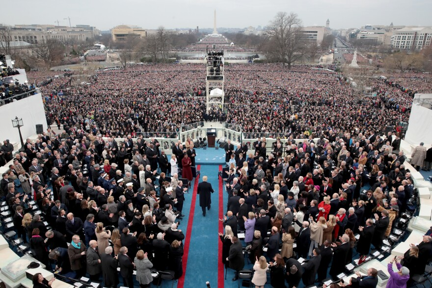 More than a year after President Trump was sworn in, his inaugural committee said in tax filings that it raised nearly $107 million and spent almost all of the money.