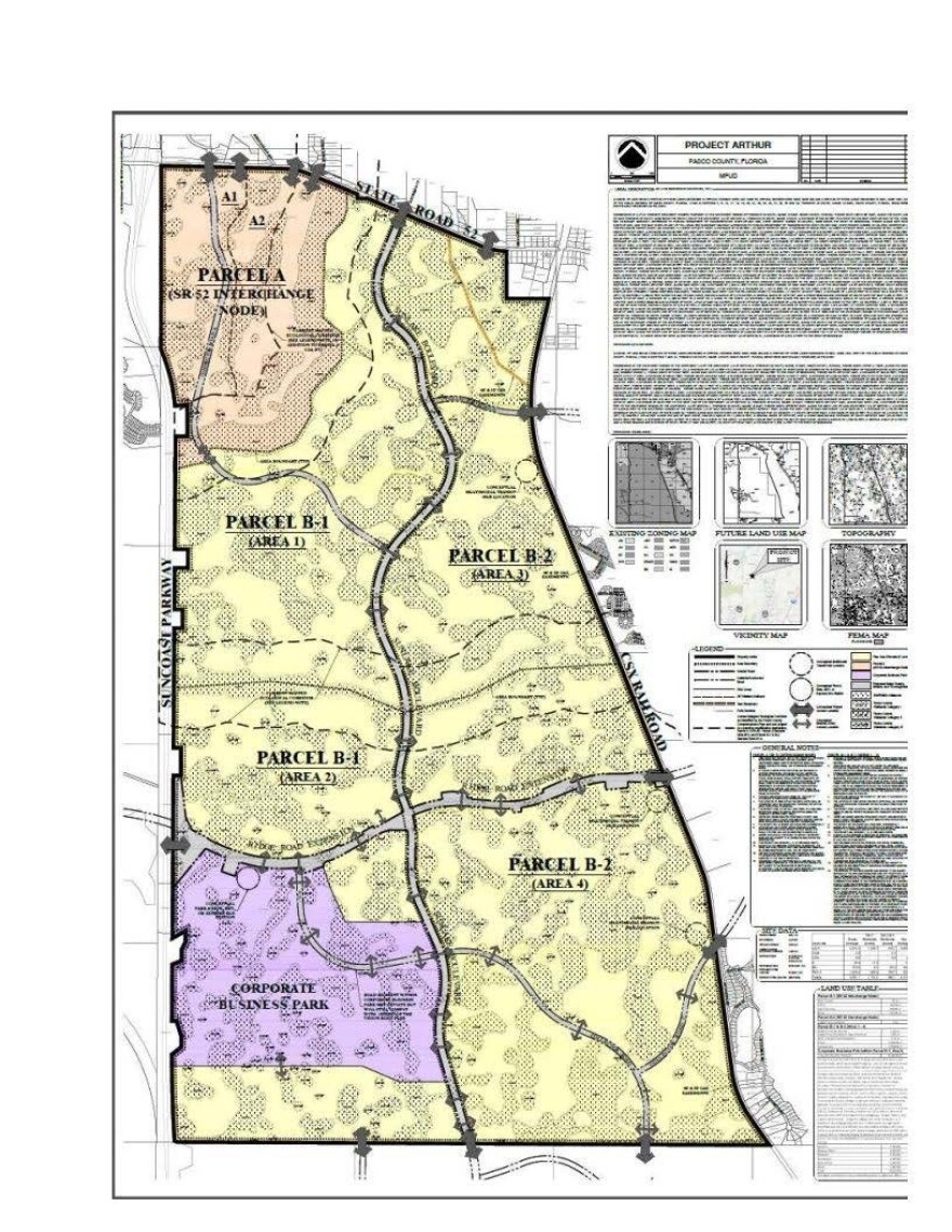 Map of new acres of land