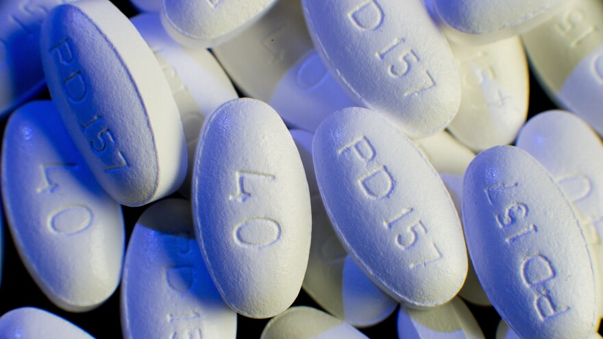 Lipitor (atorvastain calcium) tablets made by Pfizer.
