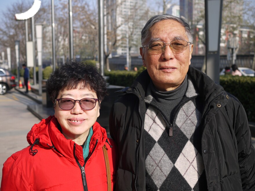 """China wants to improve its international reputation,"" says Chinese Academy of Social Sciences researcher Ren Yanli (right), shown here with colleague Wang Meixiu. They have studied the Catholic Church in China for decades."