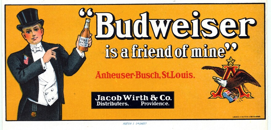 An advertisement for Budweiser beer, Anheuser-Busch, St. Louis
