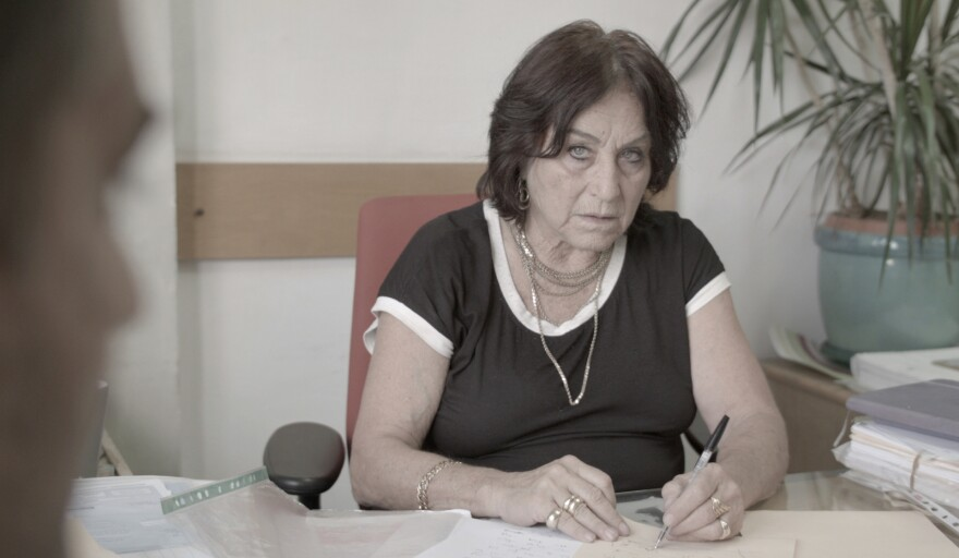 Israeli lawyer Lea Tsemel, 75, in her Jerusalem office. The documentary <em>Advocate</em>, about her work representing Palestinian suspects accused of attacks on Israelis, has sparked controversy in Israel.