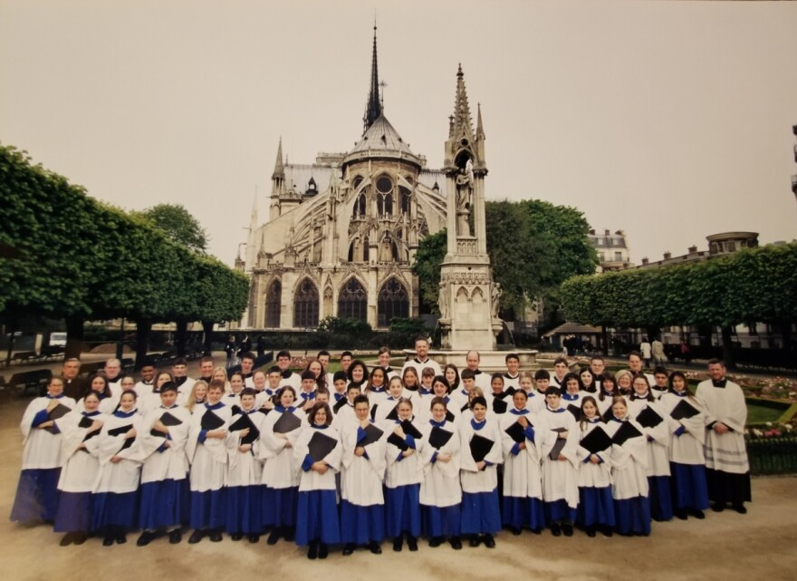 Photo of choir at Notre Dame.