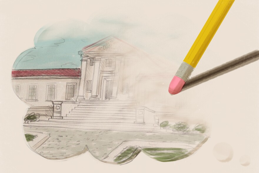 Eraser erasing college